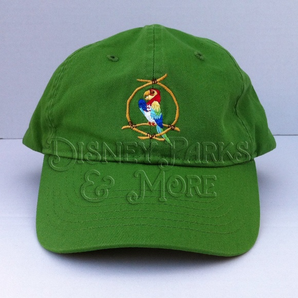 Disney Parks Tiki Room All The Birds Sing Words Green Adult Baseball Cap Hat